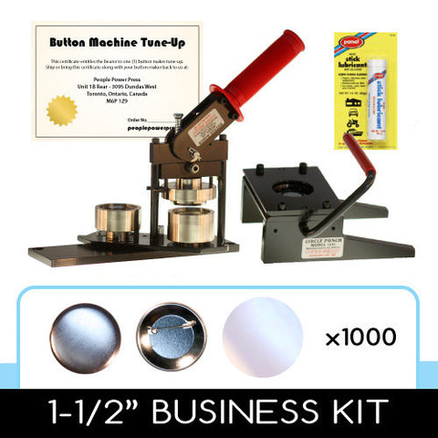 1-1/2 inch button maker, graphic paper punch cutter and 1000 button parts