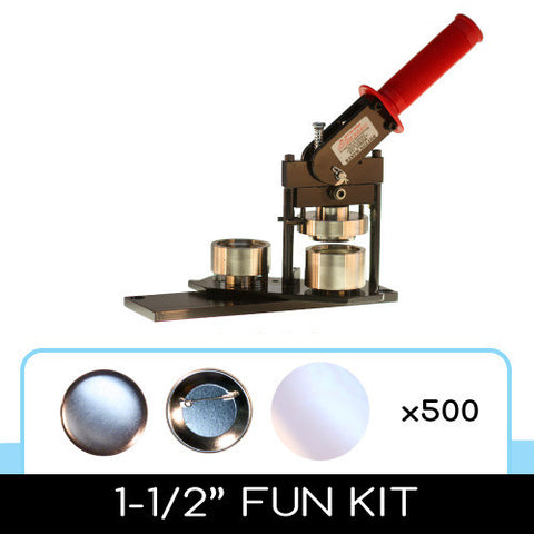 "1-1/2"" Standard Button Maker Machines and Start Up Kits"