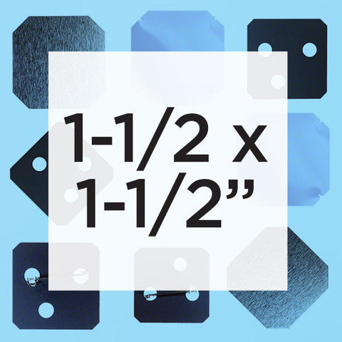 1.5 x 1.5 inch square button parts