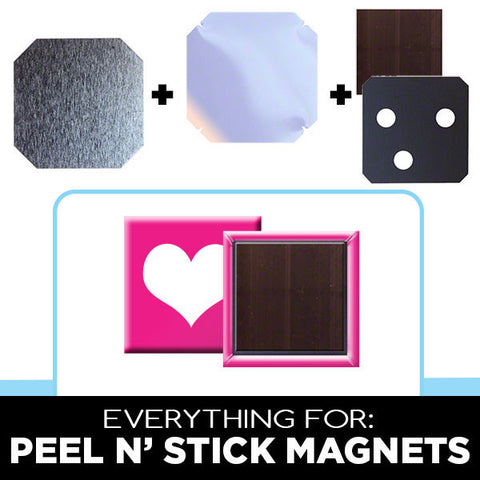 1.5 x 1.5 inch square peel n stick magnets