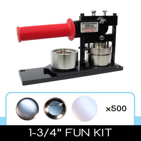 "1-3/4"" Standard Button Maker Machines and Start Up Kits"