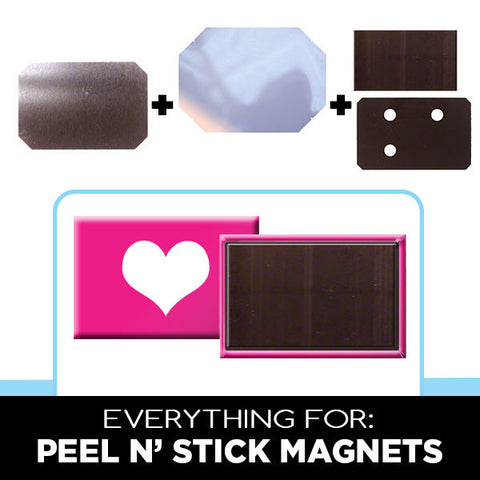 Supplies for rectangle peel and stick magnets
