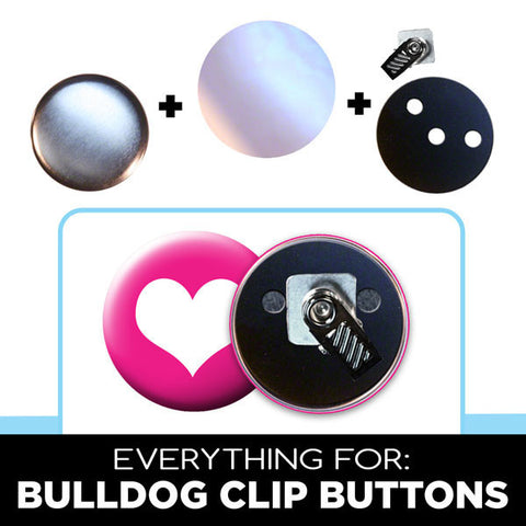 everything for 2 inch bulldog clip buttons