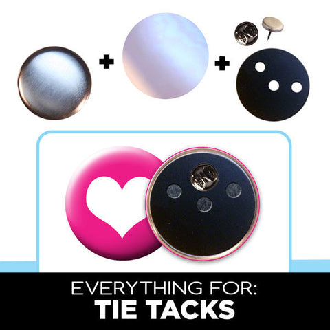 "everything for 2"" tie tack button parts"
