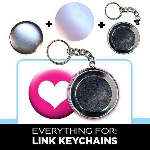 2.25 inch chain link keychain parts