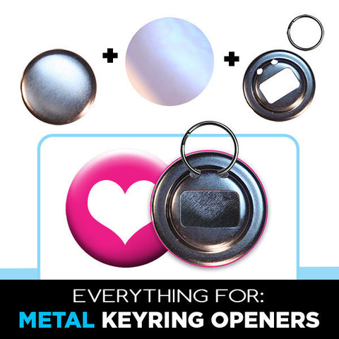 2.25 inch metal keyring bottle opener parts
