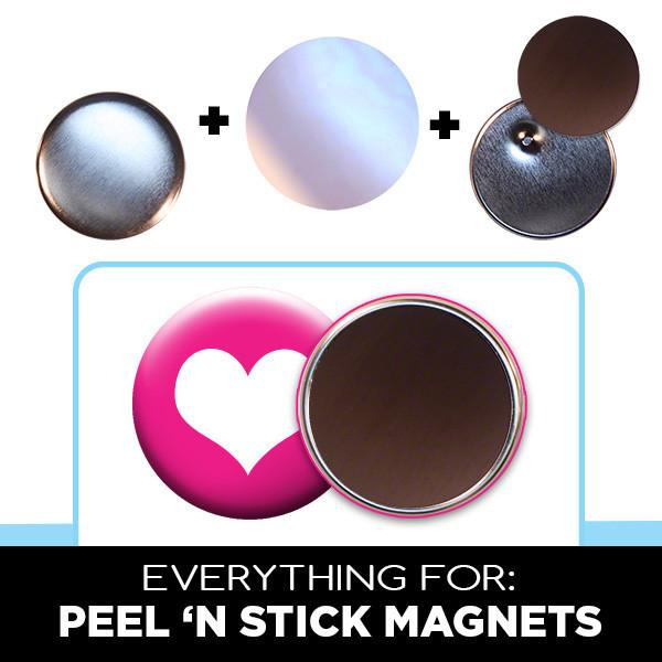 2.25 inch peel 'n stick magnets parts