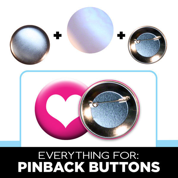 pinback button parts for 2-1/4 inch button makers
