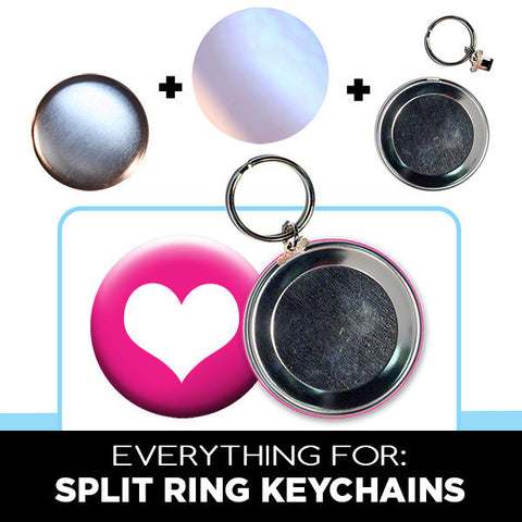 2.25 inch split ring keychain supplies