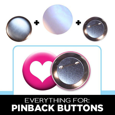 standard low cost pin-back buttons