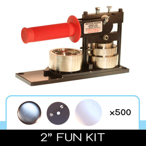 "2"" Standard Button Maker Machines and Start Up Kits"