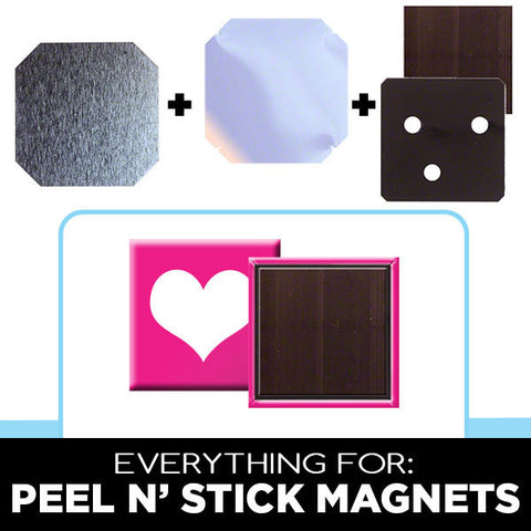 2 x 2 inch peel n stick magnet supplies
