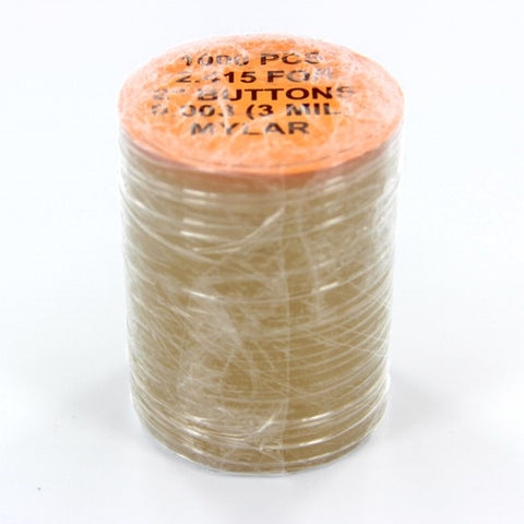 "2 inch Mylar for button making, 2.415"" mylar"