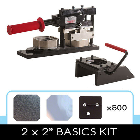 2 x 2 inch square button making beginner kit