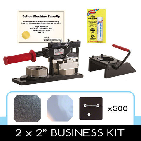 2 x 2 inch square button making professional kit