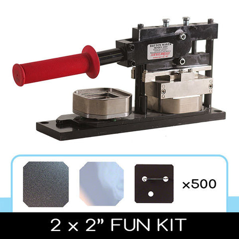 2 x 2 inch square button making starter kit