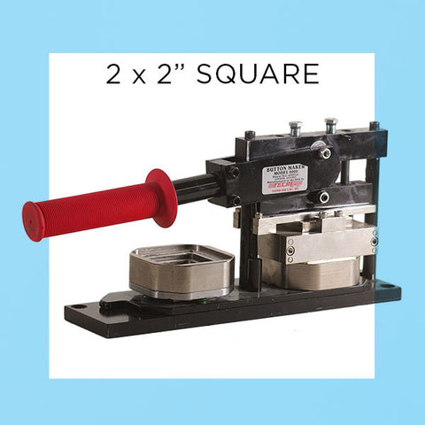 "2 x 2"" Square Standard Button Maker Machines and Start Up Kits"