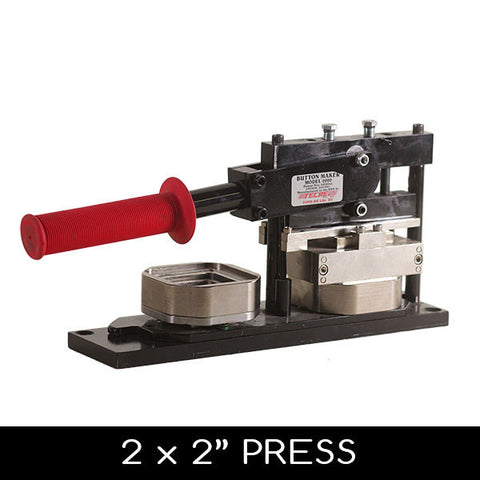 2 x 2 inch square button maker press