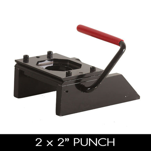 2 x 2 inch square button maker punch