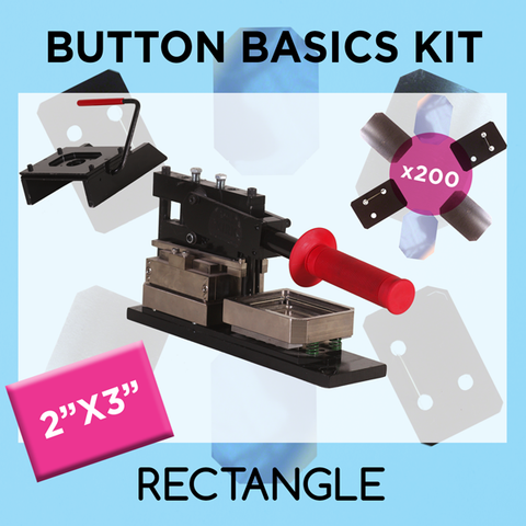 "2"" x 3"" Standard Rectangle Button Basics Kit"