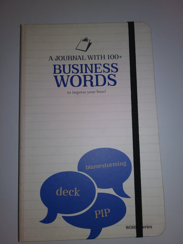 Business Words Defined in this hard-covered, lined-paper journal