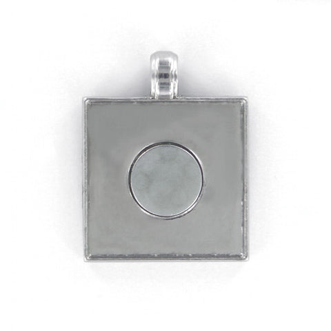 "Jewelry for buttons - Pendants for 1"" square buttons."