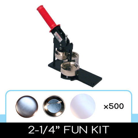 "2-1/4"" Standard Button Maker Machines and Start Up Kits"