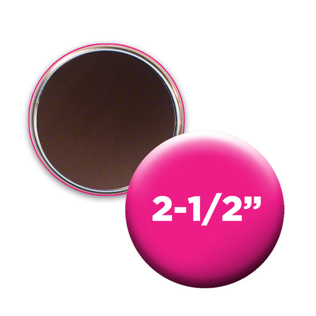 "2.5"" custom round fridge magnets 2-1/2"""