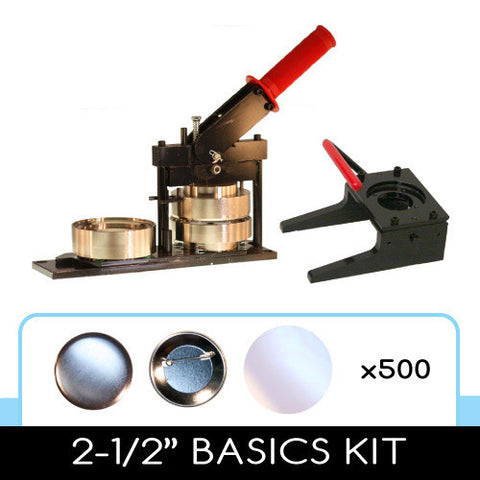 2.5 inch button maker and punch kit