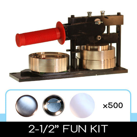 "2-1/2"" Standard Button Maker Machines and Start Up Kits"
