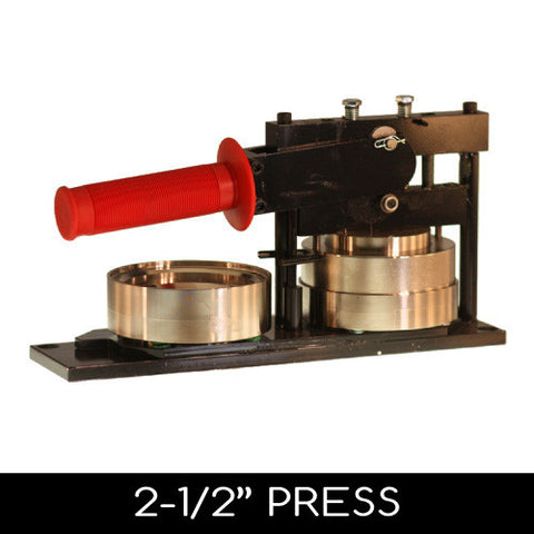 "2.5"" button machine press"