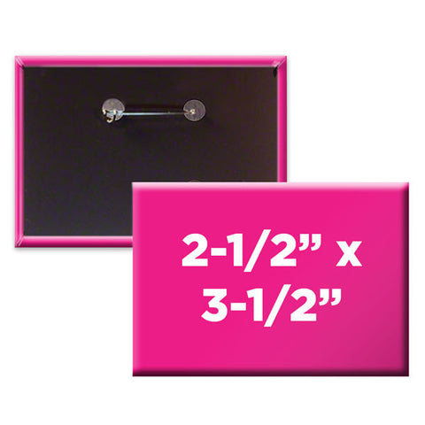 "Custom Rectangle 2-1/2"" x 3-1/2"" Buttons"