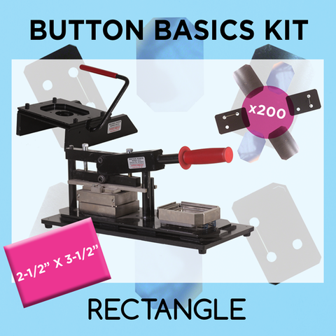 "2-1/2"" x 3-1/2"" Standard Rectangle Button Basics Kit"