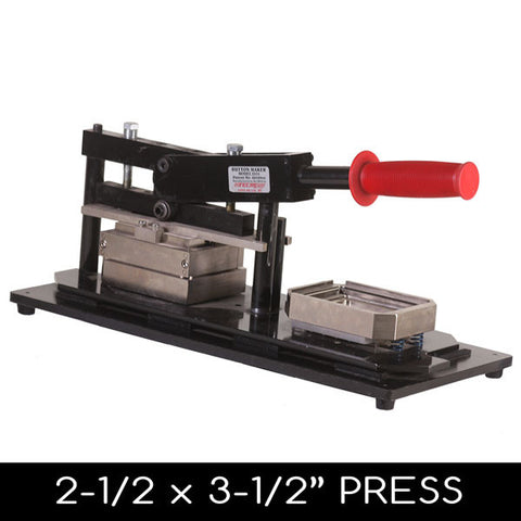 "2.5 x 3.5"" Tecre Rectangle Button Press"