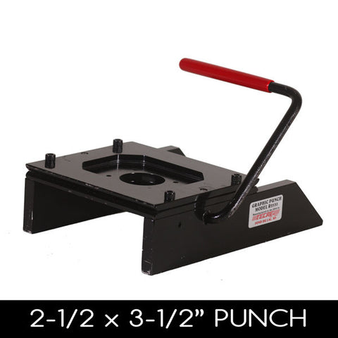"2.5 x 3.4"" Rectangle Button Punch"