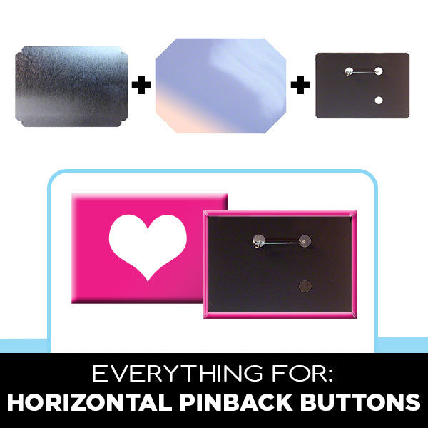 "Parts & Supplies for Standard 2-1/2"" x 3-1/2"" Rectangular Button Maker"