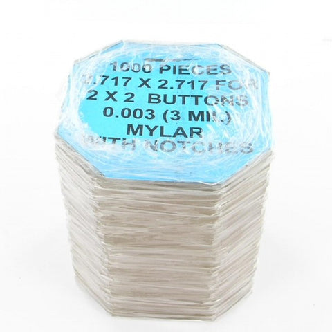 2 inch square Mylar for button making
