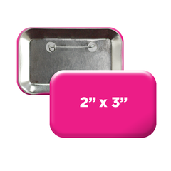 "2"" x 3"" rounded rectangle campaign buttons"