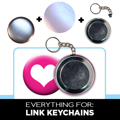large link keychain buttons