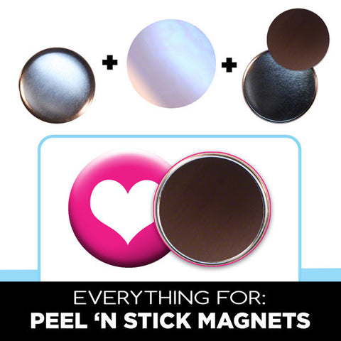 3 inch peel n stick magnets supplies