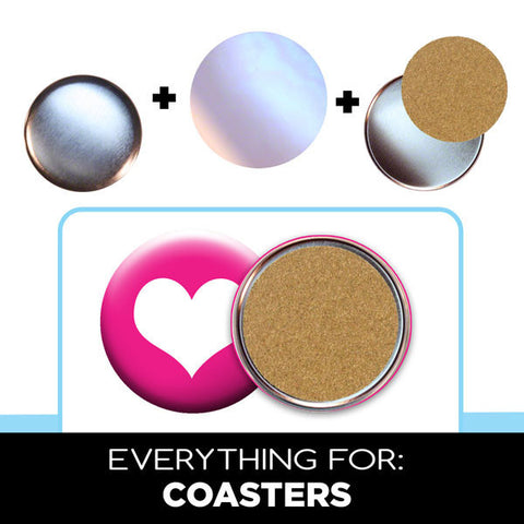 "3.5"" button coaster parts for diy gifts"