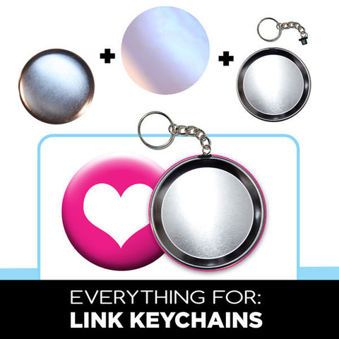 large link keychain photo buttons