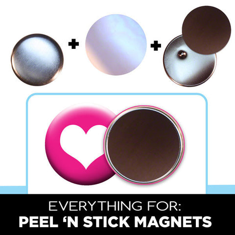 "3.5"" fridge magnet button supplies"