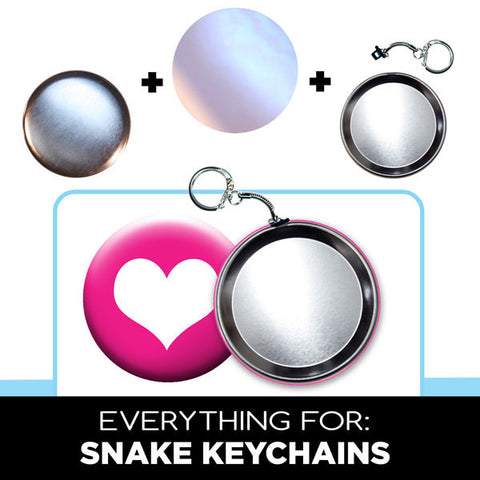 snake keychains 3 inch buttons