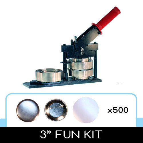 3 inch button fun kit