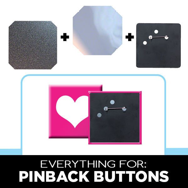 parts supplies for standard 3 x 3 square button makers people