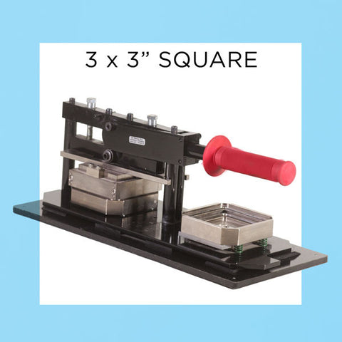 "3"" Square Standard Button Maker Kit, Graphic Punch, 1000 compl. button parts"