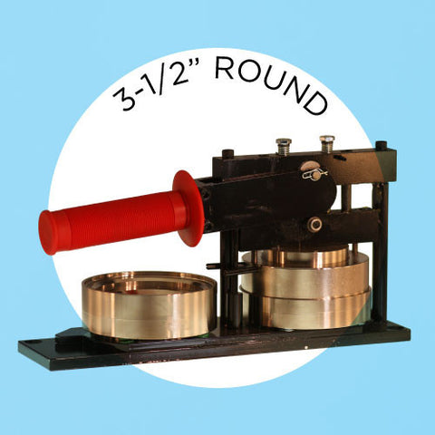 "3-1/2"" Standard Button Maker Machines and Start Up Kits"