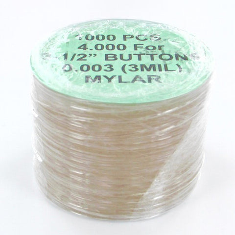 "3-1/2"" Mylar for button making & coaster buttons"