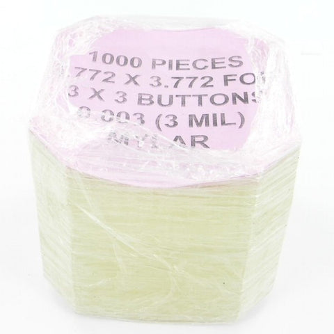 3 inch square Mylar for button makers